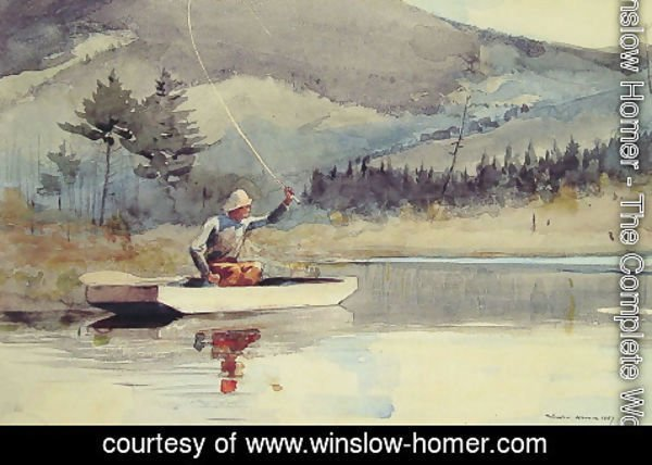 Winslow Homer - A Quiet Pool on a Sunny Day