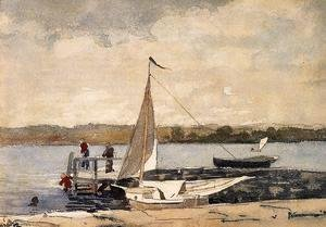 Winslow Homer - A Sloop at a Wharf, Gloucester