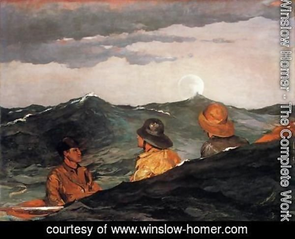 Winslow Homer - Kissing the Moon