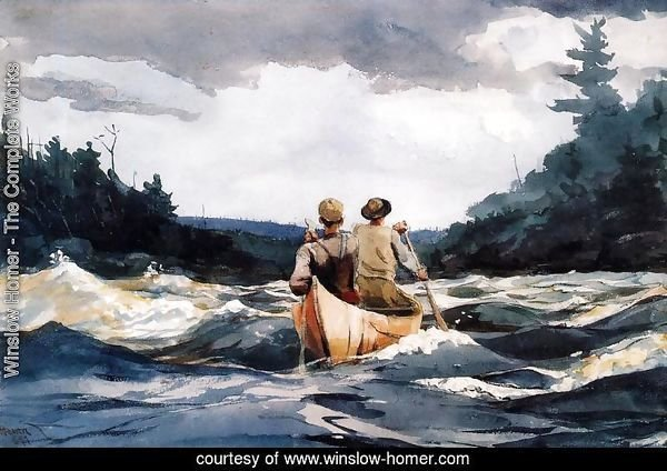 Canoe in the Rapids