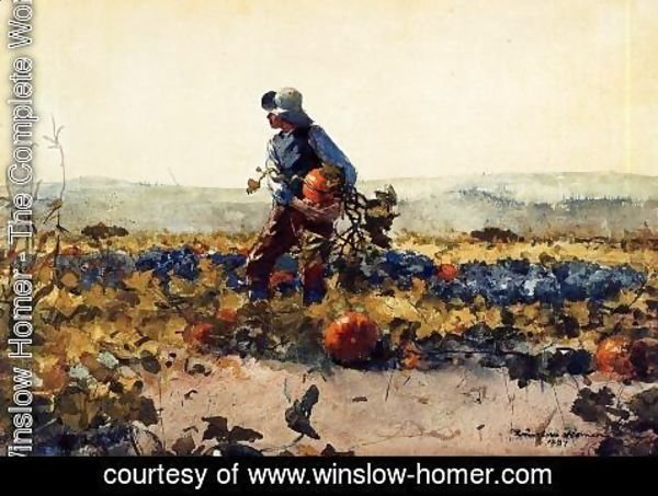 Winslow Homer - For the Farmer's Boy (old English Song)
