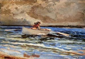 Winslow Homer - Rowing at Prout's Neck