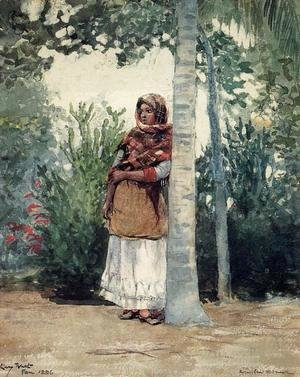 Winslow Homer - Under a Palm Tree