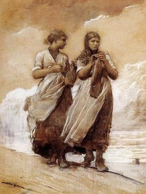 Winslow Homer - Fishergirls on Shore, Tynemouth