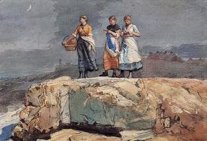 Winslow Homer - Where are the Boats? (or On the Cliffs)