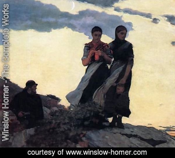 Winslow Homer - Early Evening (or Sailors Take Warning)