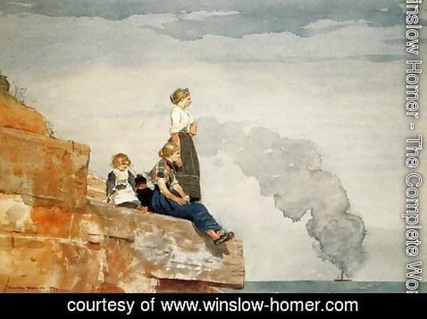Winslow Homer - Fisherman's Family (or The Lookout)