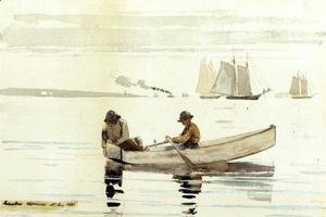 Winslow Homer - Boys Fishing, Gloucester Harbor