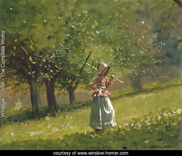 Girl with a Hay Rake