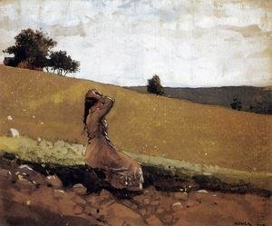 Winslow Homer - The Green Hill (or On the Hill)