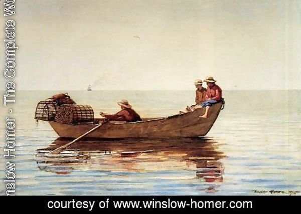 Winslow Homer - Three Boys in a Dory with Lobster Pots