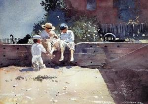 Winslow Homer - Boys and Kitten