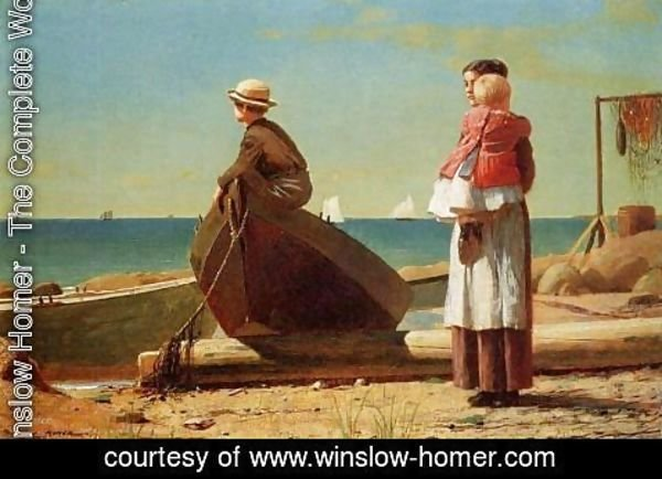 Winslow Homer - Dad's Coming!