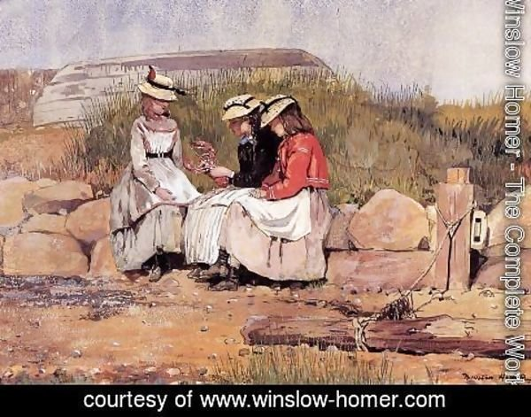 Winslow Homer - Girls with Lobster (or A Fisherman's Daughter)