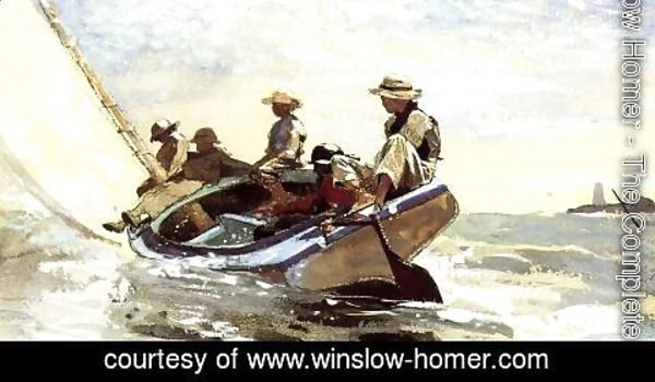 Winslow Homer - Sailing the Catboat