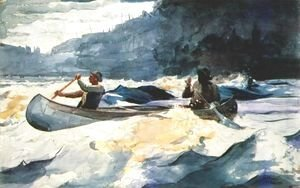 Winslow Homer - Shooting the Rapids, Saguenay River