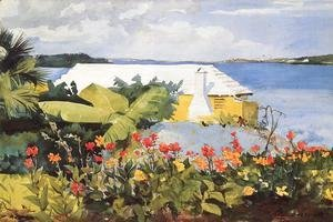 Winslow Homer - Flower Garden and Bungalow, Bermuda