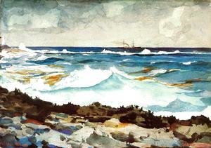 Winslow Homer - Shore and Surf, Nassau