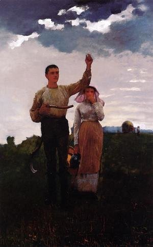 Winslow Homer - Answering the Horn (or The Home Signal)