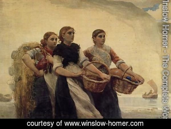 Winslow Homer - A Voice from the Cliffs