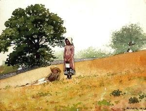Winslow Homer - Boy and Girl on a Hillside