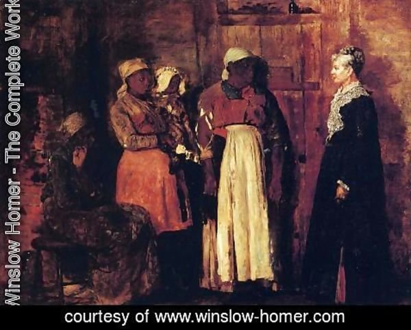 Winslow Homer - A Visit from the Old Mistress