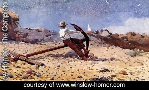Winslow Homer - Boy with Anchor