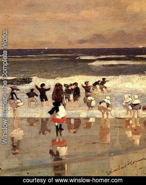 Winslow Homer - Beach Scene (or Children in the Surf)