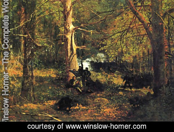 Winslow Homer - Skirmish in the Wilderness