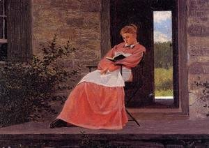 Winslow Homer - Girl Reading on a Stone Porch