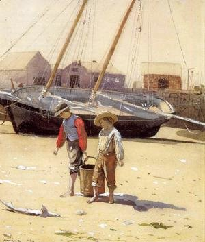 Winslow Homer - A Basket of Clams