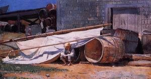 Boy in a Boatyard
