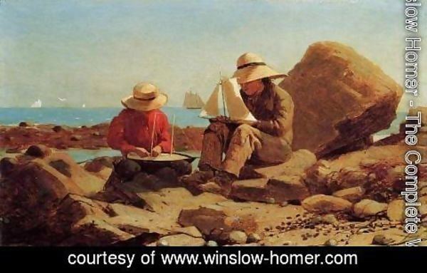 Winslow Homer - The Boat Builders