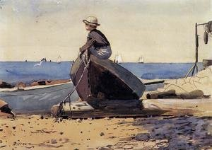Winslow Homer - Waiting for Dad