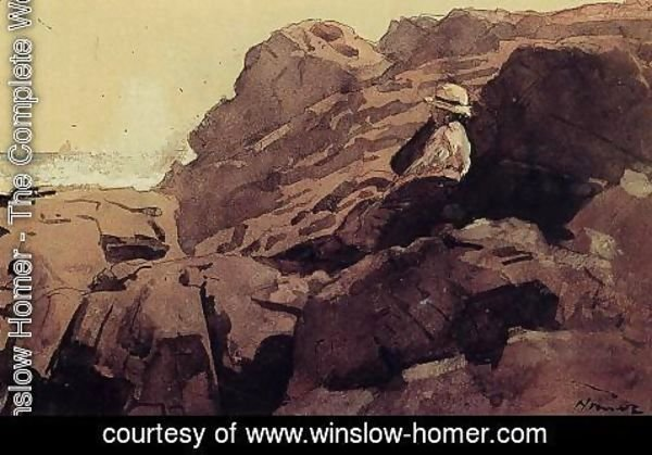 Winslow Homer - Boy on the Rocks