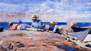 Winslow Homer - Three Boys on the Shore
