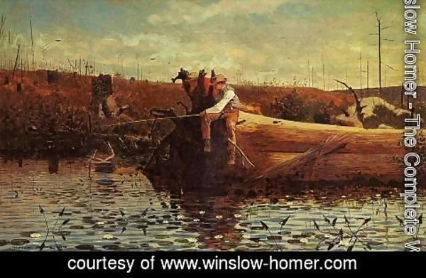Winslow Homer - Waiting for a Bite