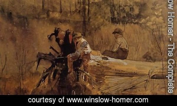 Winslow Homer - Waiting for a Bite I
