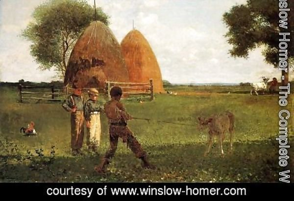 Winslow Homer - Weaning the Calf