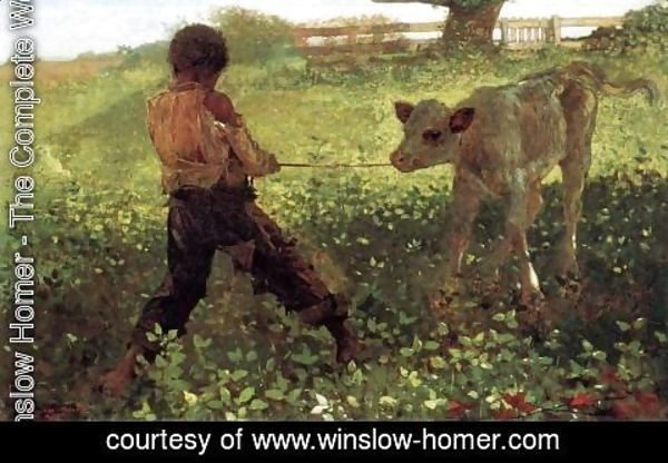 Winslow Homer - The Unruly Calf