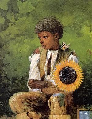 Winslow Homer - A Flower for the Teacher