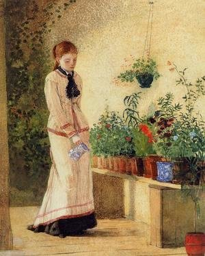 Winslow Homer - Girl Watering Plants