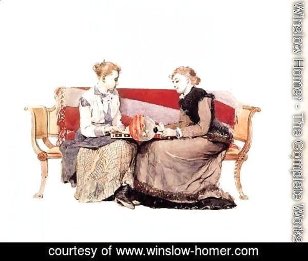 Winslow Homer - Backgammon