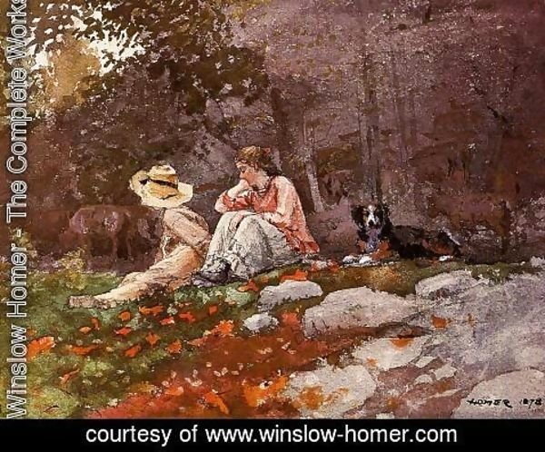 Winslow Homer - Flock of Sheep, Houghton Farm