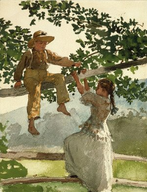 Winslow Homer - On the Fence