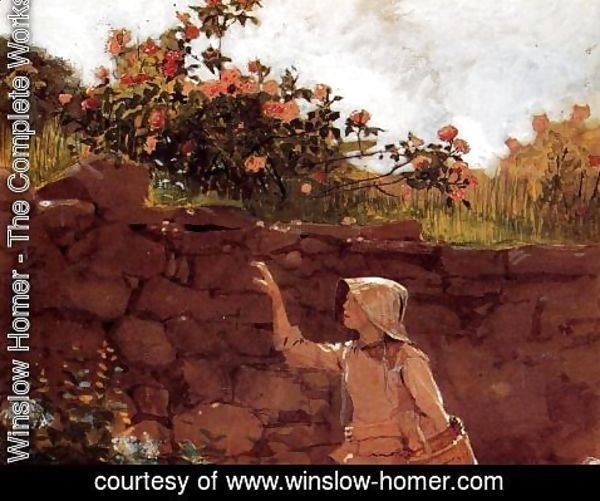 Winslow Homer - Girl in a Garden