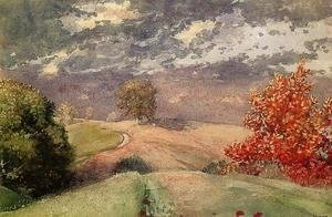 Winslow Homer - Autumn, Mountainville, New York I