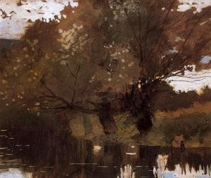 Winslow Homer - Pond and Willows, Houghton Farm