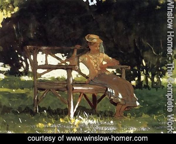 Winslow Homer - Woman on a Bench