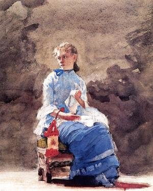 Winslow Homer - Woman Sewing